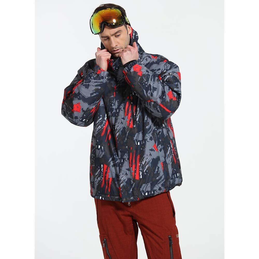 Tuta Tuta Tuta isolante Cappotto da sci con cappuccio Tuta da sci Set professionale abbigliamento da esterno in cotone a doppio bordo antivento professionale Snowboard Sciare valanga ( Dimensione   XXXL )B07MBY2ZCGLarge   Sale Online    Di Progettazione Profession af0654
