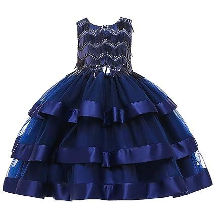 diseño atemporal 74b46 bc143 Yishelle Vestido Formal de la Muchacha Falda para niños 2019 ...