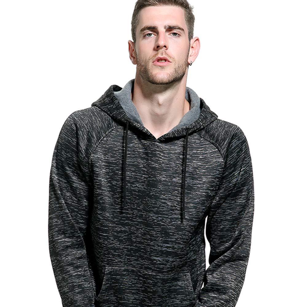 MANTORS Men's Soft Hoodie Sweatshirt Keep Warm Sport Pullover Hooded Coffee M by MANTORS (Image #4)
