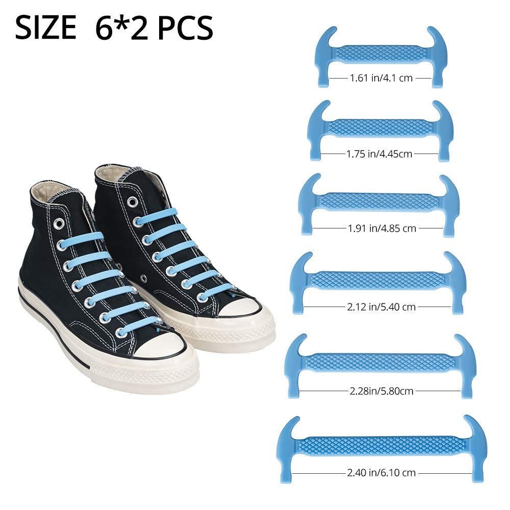 Xu you xing No Tie Shoelaces for Kids//Adults Sports Fan Waterproof Silicone Elastic Tieless Shoe Laces Running Shoe Sneaker Boots Board Shoes and Casual Shoes 6 Pairs Color