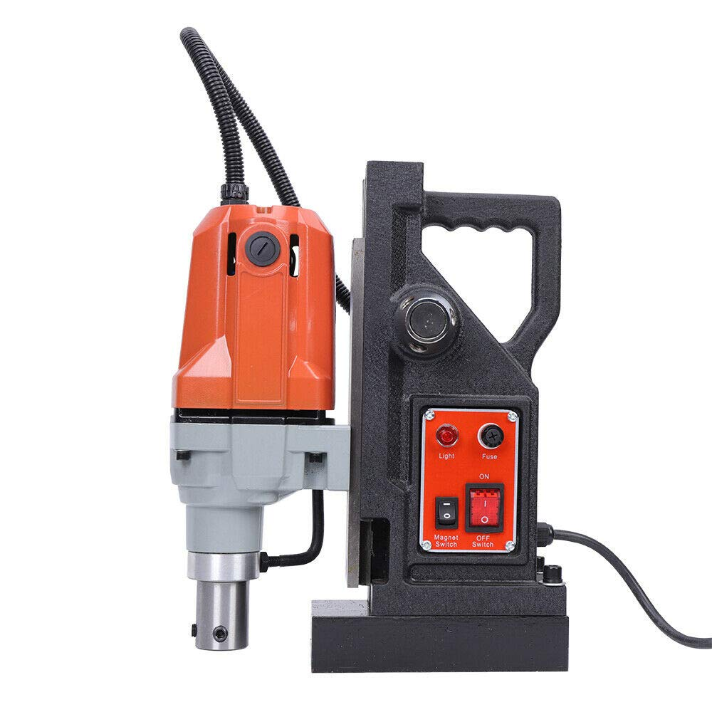1.1KW Z3040 Electric Magnetic Drill Press Metal Drill High Power Magnetic 40mm Boring exact drilling depth 12000N/2700 Lbs Steel Dragon Tools SDT Annular Cutters Spindle Speed 550 RPM