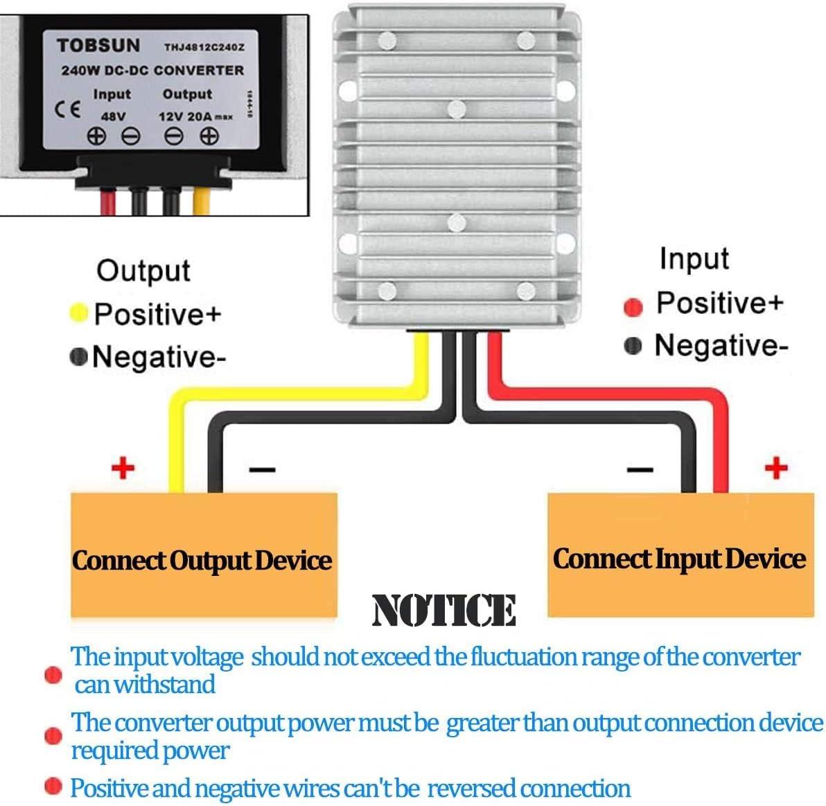48V Step Down to DC 12V 20A 240W DC//DC Converter Regulator Reducer