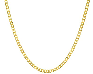 Citerna Unisex 9 ct Yellow Gold Chunky Double Curb Necklace Chain xu335ol5x
