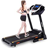 LONTEK Motorised Electric Treadmill/Folding Running Machine with 15-Level Automatic Incline - Heart Rate Monitor, Bluetooth,MP3 and Two Speakers - 2.0HP Motor.