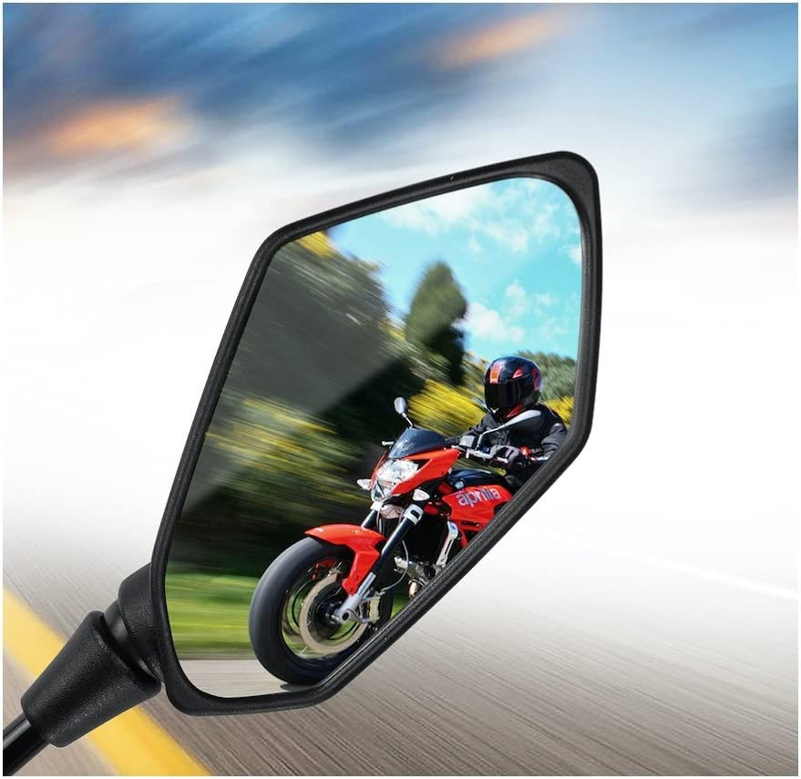 Une paire de miroirs avec M10 filetage /à droite marque E Motorize Honda XL 125 V Varadero