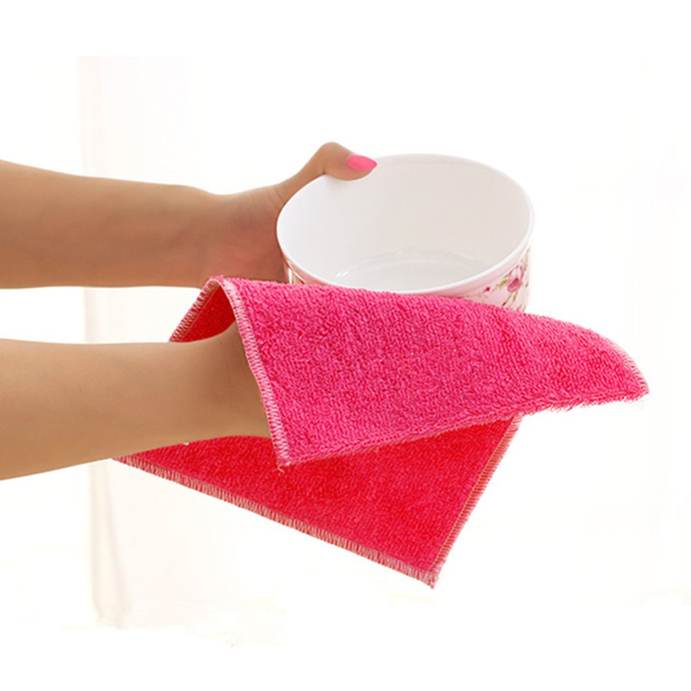 OMIGAI 1pcs de gran tamaño de fibra de bambú paños de limpieza paños de limpieza toalla de microfibra de limpieza: Amazon.es: Hogar