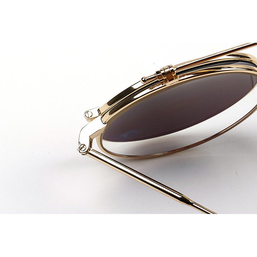 Hitop Retro Runde Flip-Sonnenbrillen Mode Sonnenbrillen UV-Schutz ...