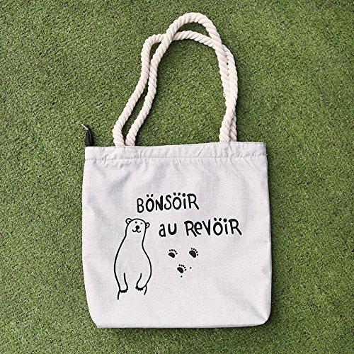 1 Bag Shoulder Womens, Casual, Beach, Shoulder Bag, Handbag, Shopping Bag Canvas 12.60 X 0.39 X 12.99 Yellow Bear