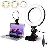 Video Conference Lighting Kit, Conference light, zoom lighting, LED Ring Light Clip On for Computers, Monitors, and Laptops,