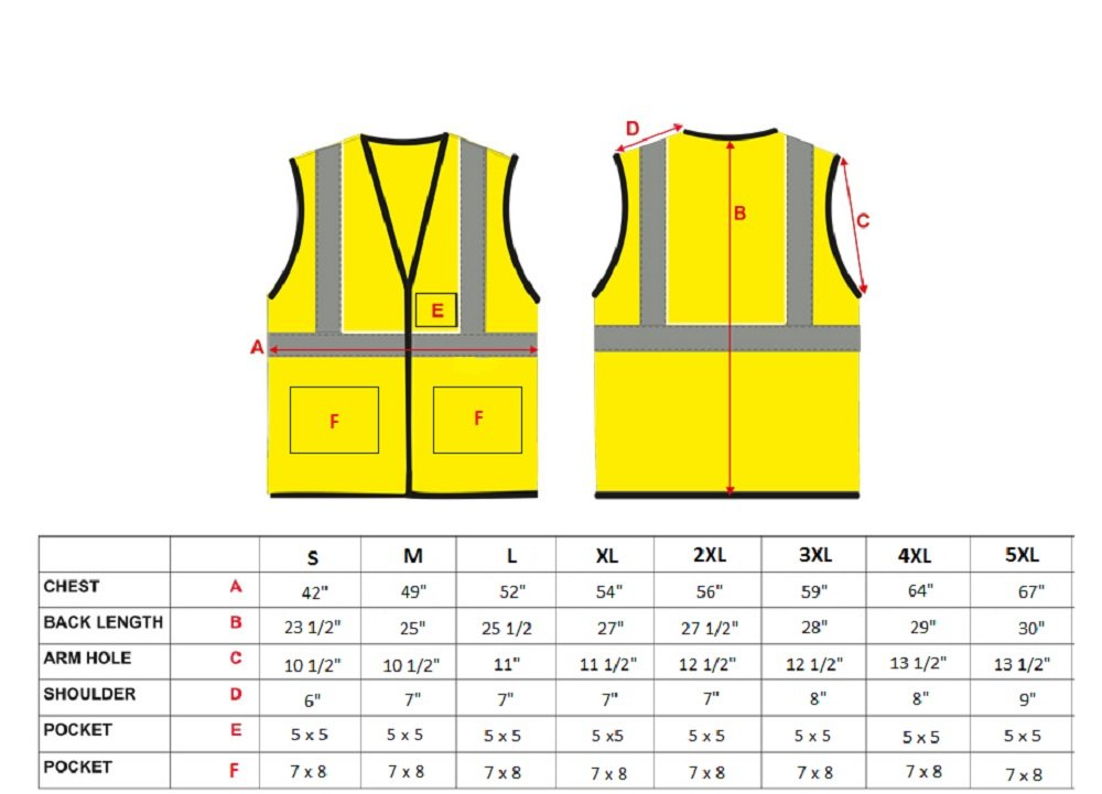 Safety Depot Breathable Safety Vest Multiple Colors Available, 4 Lower Pockets, 2 Chest Pockets with Pen Divider & High Visibility Reflective Tape MP40 (Mesh Black, Extra Large) by Safety Depot (Image #3)