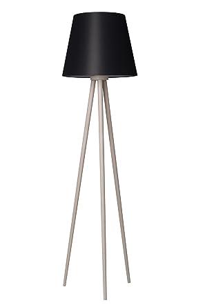 Bauhaus - Lámpara de pie (en negro, altura 160 cm, 3 ...
