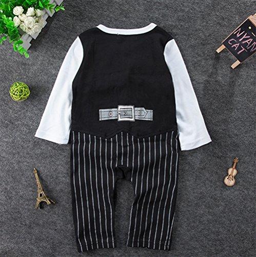 Stylesilove Newborn Infant Toddler Baby Boy Long Sleeve Tuxedo Romper Onesie