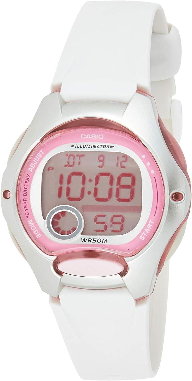 Casio LW200-7AV Reloj Digital para Mujer con Correa de Resina Blanca