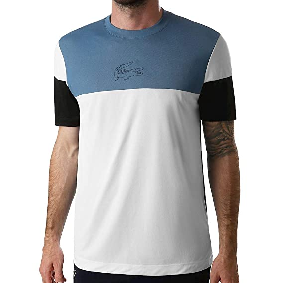 Lacoste T-Shirt Men White: Amazon.es: Ropa y accesorios