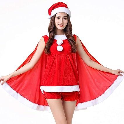 Yunfeng Disfraces de Papá Noel para Mujer Fiesta de Traje ...