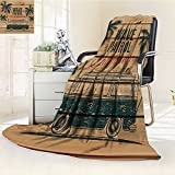 Digital Printing Blanket Cafe on the Wooden Dock and Sky Party Restaurant Romance Scene Summer Quilt Comforter