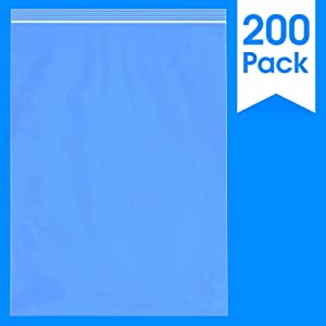 "Spartan Industrial || 200 Count - 13 X 18"" - 2 Mil Clear Plastic Reclosable Zip Poly Bags with Resealable Lock Seal Zipper (More Sizes Available)"