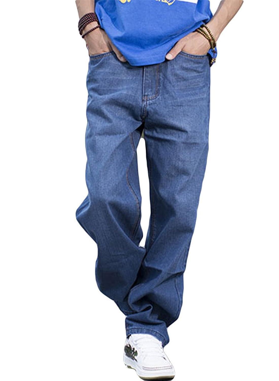 Beauty Girl Men's plus size Demin Blue Jeans