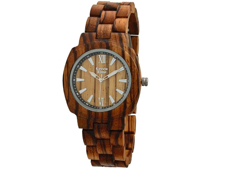 Greentime Uhr aus Holz von Zebrano zw047b