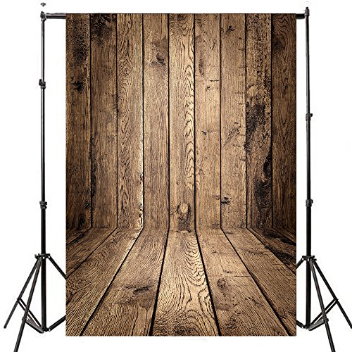 (FUT Wooden Theme Photography background Vinyl Cloth Backdrop(Updated Material))