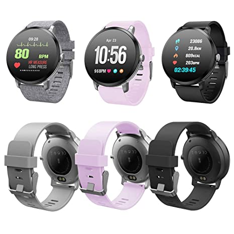 Idol Smart Watch, Color Screen Fitness Tracker Heart Rate Monitor Sleep Calorie Step Counter Pedometer Waterproof Bluetooth Smartwatch for Android & ...
