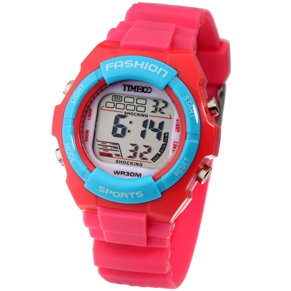 Digital Quartz Outdoor Waterproof Alarm Girls Watch Chronograph