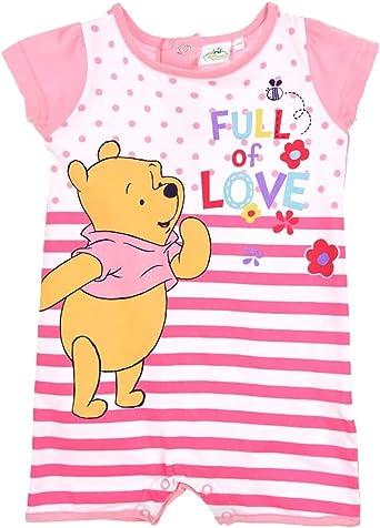 Fille Grenouill/ère Hiver /à Manches Longues Coton Winnie The Pooh Rose Winnie lOurson Barboteuse B/éb/é Salopette Automne