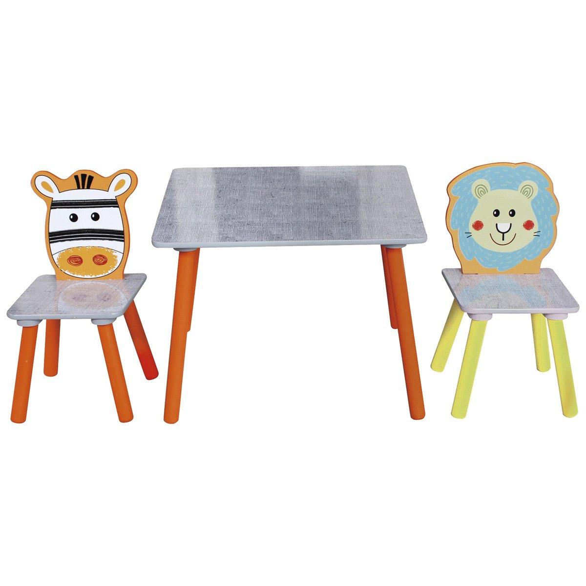 Safari Tischgruppen Set 1 Tisch Mit 2 Stühlen In Bunten Farben