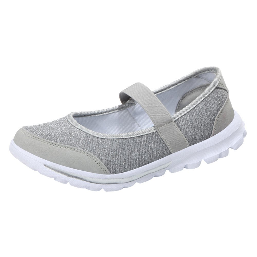 Clearance Sale Shoes For Women ,Farjing Fashion Women Casual Sneakers Fitness Shoes Non Slip Breathable Shoes (US:6.5,Gray)