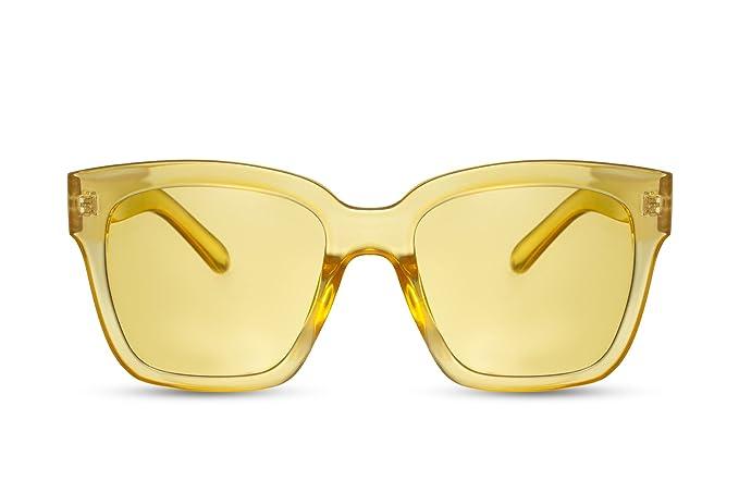 92e03a6207 Cheapass Gafas de Sol Amarillas Lentes Grandes XXL Oversize Gafas Diseñador  Mujer