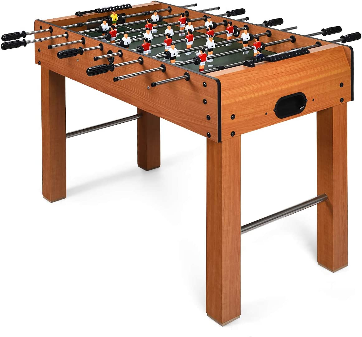 Goplus 48 Foosball Table, Easy-Assemble Soccer Game Table w 2 Balls, Competition Sized Foosball Games for Home, Game Room, Arcade
