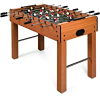 """Goplus 48"""" Foosball Table, Easy-Assemble Soccer Game Table w/ 2 Balls, Competition Sized Foosball Games for Home, Game Room, Arcade"""