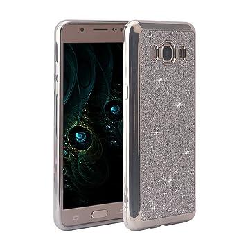 Funda Galaxy J5 Carcasa 2016, Galaxy J5 2016 Funda Silicona Brillar, Moon mood Brillante TPU Silicona Gel Funda Case Delgado Caso del Teléfono ...