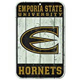 WinCraft Emporia State Hornets Official NCAA 11'' x 17'' Fence Plastic Wall Sign 11x17 by 606006