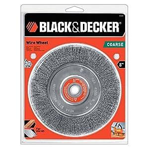 Black Amp Decker 70 615 Wire Wheel Coarse Bench Grinder 8