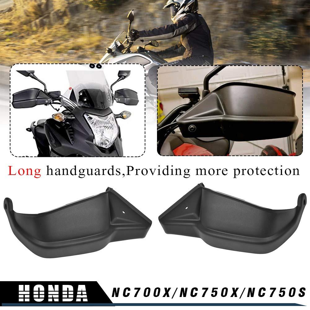 LoraBaber prot/ège-mains de moto Protecteur Noir pour Honda NC700X NC750X NC750S 2012 2013 2014 2015 2016 2017 2018 2019