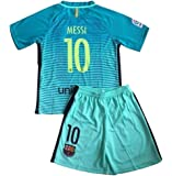 2b48a8016 Iqrrn Messi  10 Barcelona 3rd Jersey   Shorts for Kids and Youth Green