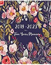 2019-2023 Five Year Planner- Flower: 60 Months Planner and Calendar,Monthly Calendar Planner, Agenda Planner and Schedule Organizer, Journal Planner and Logbook, Appointment Notebook, Academic Student Planner for the next five years (5 year calendar/5 year diary/8 x 10)