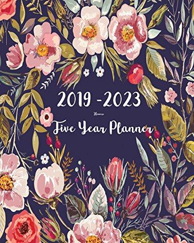 2019 2023 five year planner flower 60 months planner and calendarmonthly calendar planner agenda planner and schedule organizer journal planner
