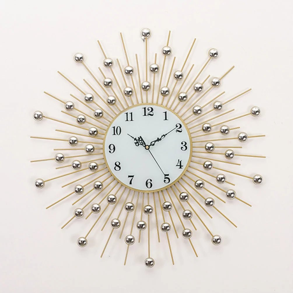 UNUSUAL 壁時計 クロック 掛け時計 北欧 水晶 壁掛け 鉄芸 音しない 時計 個性 店舗飾り 開店祝い レストラン 高級 20センチ B01N9D0RGO C C