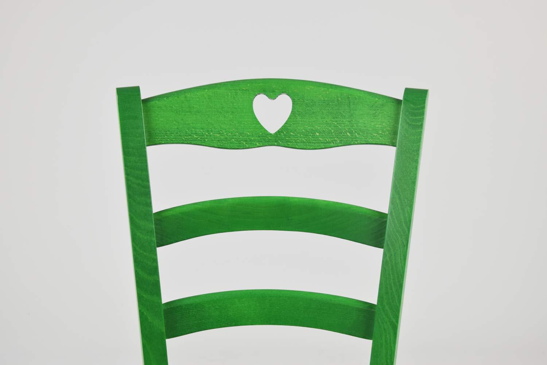 Tommychairs Klassischer K/üchensessel Herz Anilingr/ün und Sitzfl/äche aus Holz Bar und Esszimmerstuhl Robustes Gestell aus Holz