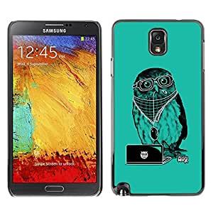 GagaDesign Phone Accessories: Hard Case Cover for Samsung Galaxy Note 3 - Cool Party DJ Owl