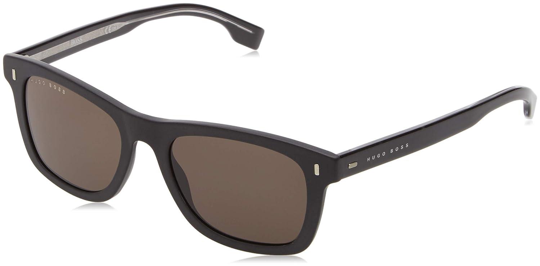 fb069eb125f0 Amazon.com  BOSS by Hugo Boss Men s Boss 0925 s Polarized Rectangular  Sunglasses BLACK 52 mm  Hugo Boss  Clothing