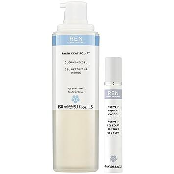 ren rosa centifolia cleansing gel & active 7 eye gel duo pack Indigo Wild, Zum Face Lemongrass Sugar Facial Scrub, 4 oz