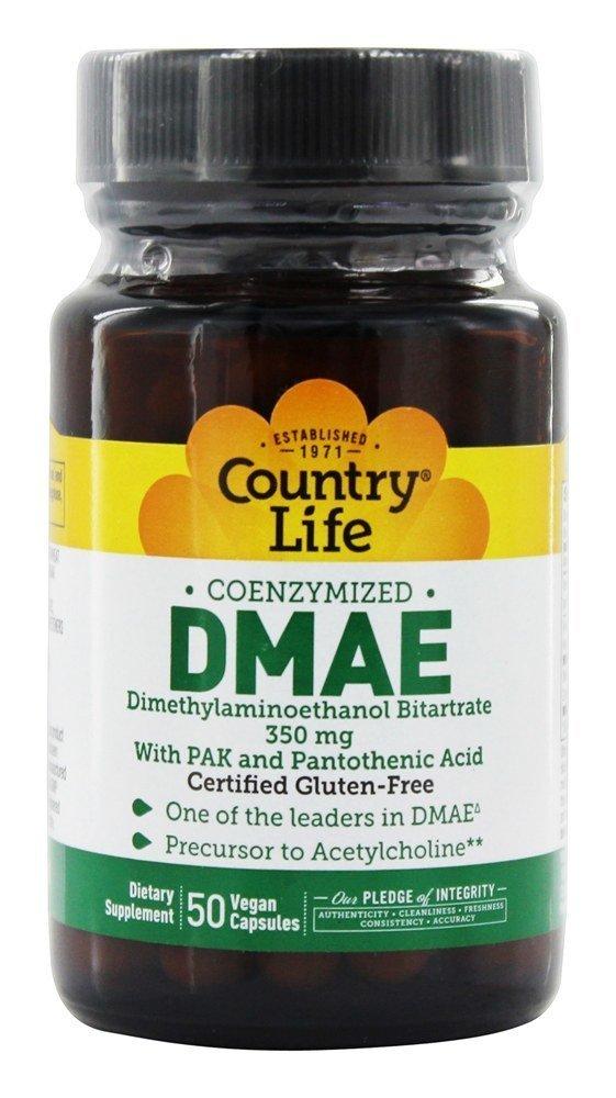 Country Life - DMAE Coenzymized con PAK y el magnesio Pantothenic 350 del ácido. - 50 De las cápsulas bioquímica vegetariana antes: Amazon.es: Salud y ...