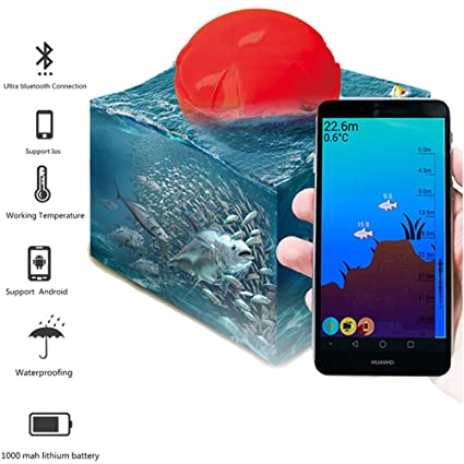 Wireless Sonar Fish Finder Bluetooth Depth Sea Lake Fish Detect for Android iOS