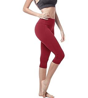 LAPASA Mujer Capri Leggings 3/4 Deportes Yoga Pants ...