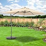 Garden Winds Rectangular Solar Umbrella Replacement Canopy Top Cover