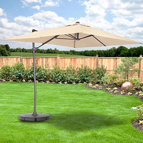 Garden Winds Rectangular Solar Umbrella Replacement Canopy Top Cover by Garden Winds