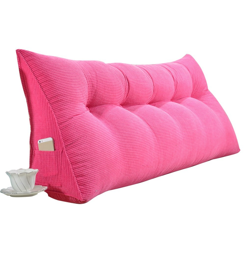 抱き枕 ラージトライアングルピローバックサポートクッションを読む枕として腰部クッションネックピローヘッドボードパッド付きダブルベッドバックレストウォッシャブルリムーバブルカバー(ピンク) (サイズ さいず : 200×50×20cm) B07FNQW35G  200×50×20cm